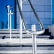 Stainless steel railings — Stock Photo