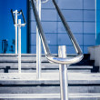 Stainless steel railings — Stock Photo #35945589