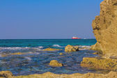Beautiful photo Mediterranean Sea. Israel — Stock Photo