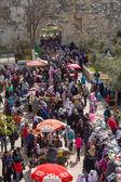 Bazaar in the Old City of Jerusalem . — Stock fotografie