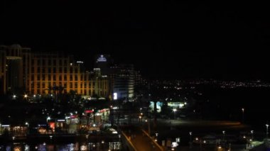 View on the Aqaba gulf and Eilat city at the evening , Israel — Stockvideo