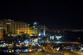 View on the Aqaba gulf and Eilat city at the evening , Israel — Stock Photo