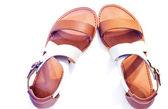 Sandálias de couro — Foto Stock