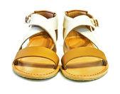 Lederen sandalen — Stockfoto