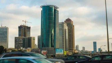 Tel Aviv  Skyline At Night — Stock Video