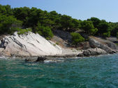 Croatian Mediterranean coast - rocks and sea — Stock Photo