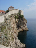 Walls surrounding Dubrovnik Old Town — Stock Photo