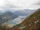 Kotor Bay and Old Town view, Montenegro — Stock Photo