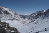 Winterlandschap in de bergen — Stockfoto