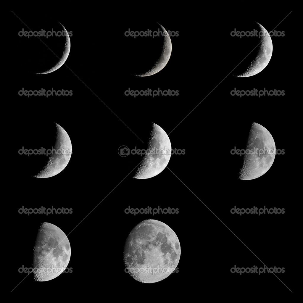 在黑色夜空中美丽明亮的月亮– 图库图片