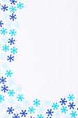 在白色背景上的暗蓝和绿松石雪花 — 图库照片