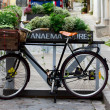 Stock Photo: Bicycle as an element of the decor cafe in the old town of Tallinn. Estonia.