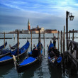 Grand canal with gondolas — Stock Photo