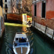 Boat in Venice canal — Stock Photo
