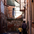 Residents of Tbilisi. Old town Tbilisi, Georgia — Stock Photo