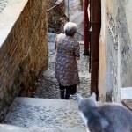 Residents of Tbilisi. Old town Tbilisi, Georgia — Stock Photo