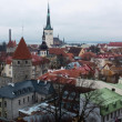 View of Tallinn from the observation desk in the Old City, Estonia. November 2013. — Stock Photo