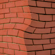 Curved brick corner — Stock Photo