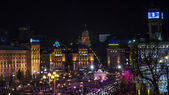 Kiev, night Maidan Nezalezhnosti — Stock Photo