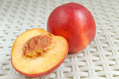 Nectarine cutaway — Stock Photo