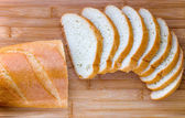 Sliced long loaf — Stock Photo