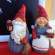 Santa and his wife, ceramic — Stock Photo
