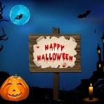 Carte d'Halloween — Vecteur