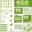 Eco elements and icons — Imagen vectorial