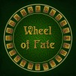 Stock Photo: Wheel of fate with rune signs