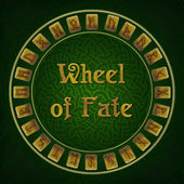 Wheel of fate with rune signs — Stock Photo
