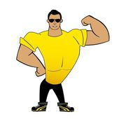 Muscle man — Stockvector