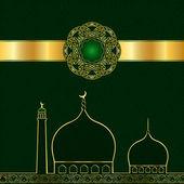 Islamic pattern for Muslim celebration — Stock vektor