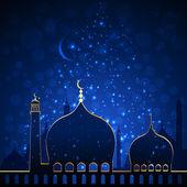 Islamic Mosque in nightlights — Stock Vector