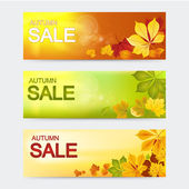 Seasonal autumn sale banners — 图库矢量图片