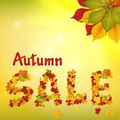 Seasonal autumn sale. — 图库矢量图片