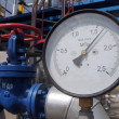 Pressure gauge at the gas compressor station — Stock Photo