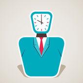 ビジネスマン株式ベクトルの時計の文字盤 — ストックベクタ
