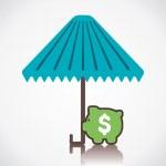 Secure money concept vector — Stock Vector