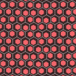Creative and color hexagon pattern background vector — Stock Vector
