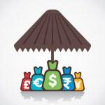 Secure money or saving concept vector — Stock Vector