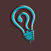 Question mark in bulb stock vector — Stock Vector