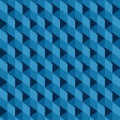 Blue abstract square design pattern background vector — Stockvektor