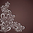 Creative white flora design in dark background vector — Stock Vector