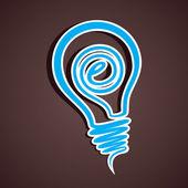 Vector stock d'icône ampoule créatif — Vecteur