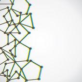 Abstract node background vector — Stock Vector