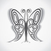 Design creativo e artistico della farfalla — Vettoriale Stock