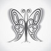 Tvůrčí a umělecké ztvárnění motýl — Stock vektor