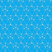 Blanco conecte el nodo en fondo azul — Vector de stock