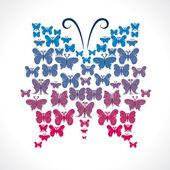 Butterfly design big butterfly shape — Stock Vector