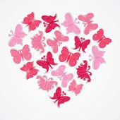 Heart shape design butterfly vector — Stock Vector